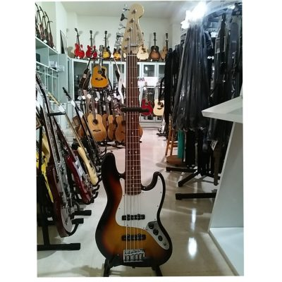 Fender Jazz Bass Mexico 5 corde Sunb