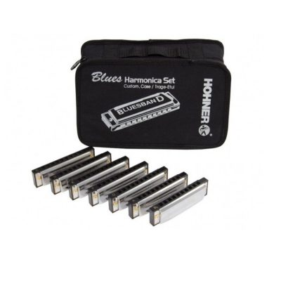 HOHNER SET 7 ARMONICHE BLUES CON BORSA